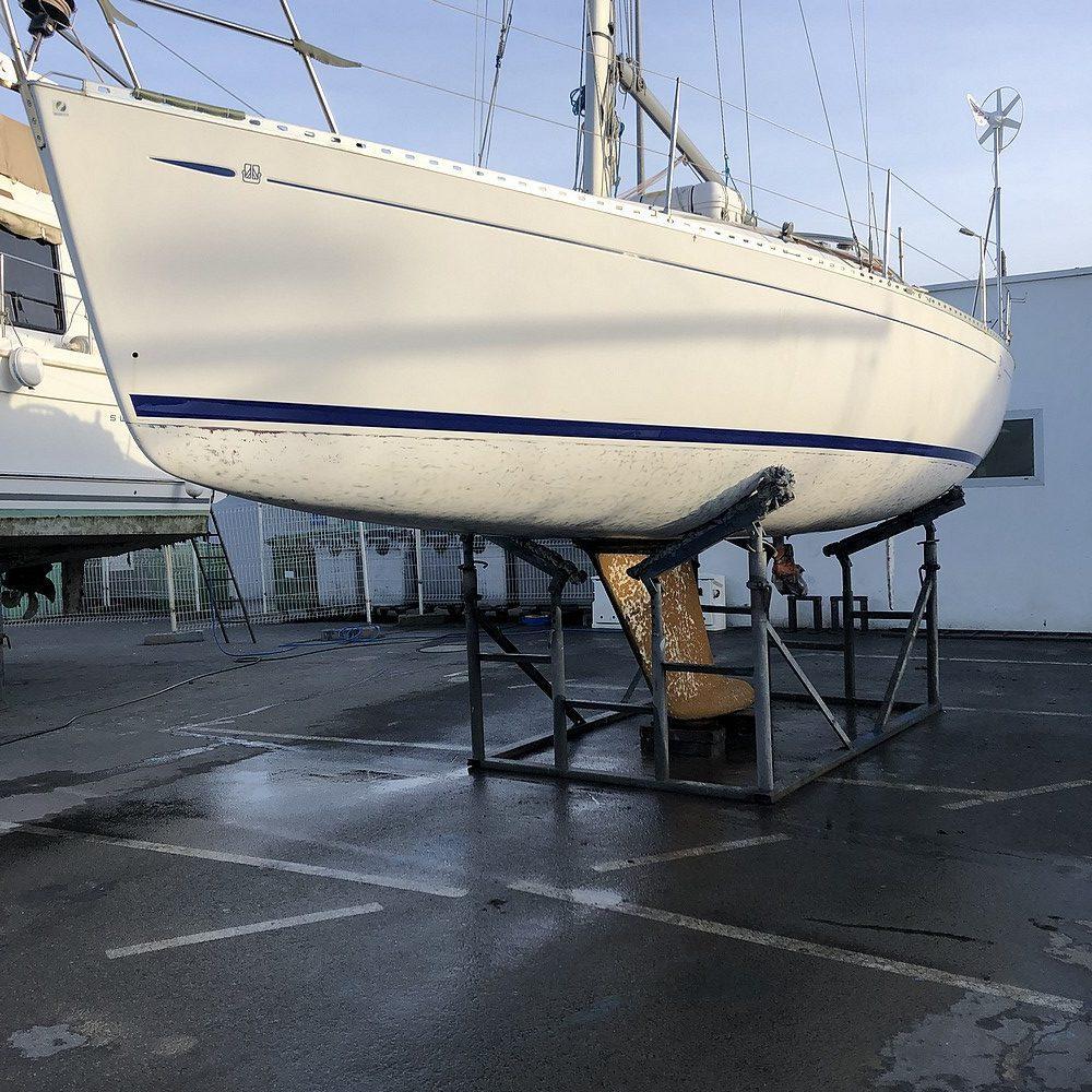 Décapage antifouling par aérogommage Morbihan