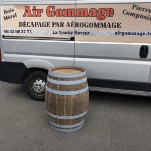 Photos décapage sur bois par Air Gommage