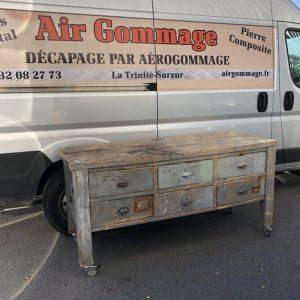 Décapage par aérogommage, Morbihan